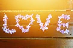 gradientowy miłości siatki wektoru słowo obrazy stock