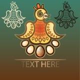 Gradientowy symbol kurczak z jajkami Obrazy Stock