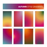 Gradients colorés abstraits en Autumn Colors Papier peint moderne d'écran, fond, conception pour le mobile d'écran Photo libre de droits
