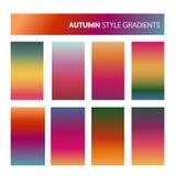 Gradients colorés abstraits en Autumn Colors Papier peint moderne d'écran, fond, conception pour le mobile d'écran Image libre de droits