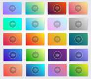 Gradients for designers and developers. This is vector illustration ideal for invitation, background, business card, menu, shop, p Stock Image