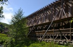 Gradierwerk (Saltwork) - dåliga Sooden-Allendorf Arkivfoto