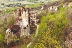 Gradina Zmeilor (Dragon's Garden). A natural park, in Salaj county, Romania, called Gradina Zmeilor after some old local legends Stock Photo
