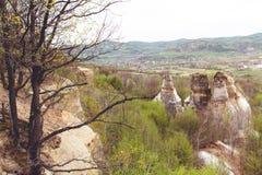 Gradina Zmeilor (Dragon's Garden). A natural park, in Salaj county, Romania, called Gradina Zmeilor after some old local legends Stock Photography
