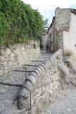 Grading road in the medieval town Eus Royalty Free Stock Images