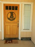 Gradino della porta anteriore del cowboy Fotografia Stock Libera da Diritti