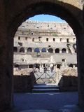Gradins of the Coliseum. Gradins of the Roman Coliseum through an arc, Rome, Italy Stock Photos