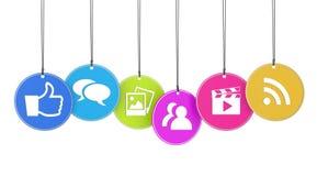 Gradisco il web ed il concetto di media del sociale Immagine Stock Libera da Diritti