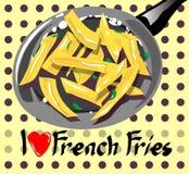 Gradisco l'insegna delle patate fritte Fotografia Stock