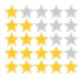 Grado de calidad de la estrella Imagen de archivo