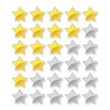 grado de cinco estrellas del vector con las estrellas llenas y vac?as ilustración del vector