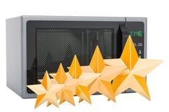 Grado de cliente del horno de microondas, concepto representaci?n 3d stock de ilustración