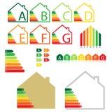Grado de la casa de la energía Foto de archivo libre de regalías