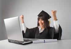 Grado en línea Imagen de archivo