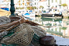 Grado, Italia: Pescherecci Fotografia Stock Libera da Diritti