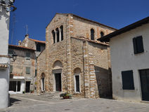 Grado, Italy. Basilica Santa Eufemia, romanesque church Stock Photos