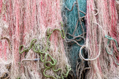 Grado, Italy: Fishing nets Stock Images