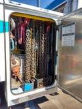 Grados de las cadenas, de Tow Truck Equipment, de la cadena y del cable Imagen de archivo libre de regalías
