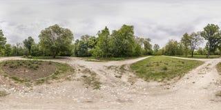 360 grados de panorama de la reconstrucción y cultura parquean en Plovd Imagen de archivo