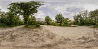360 grados de panorama de la reconstrucción y cultura parquean en Plovd Fotos de archivo libres de regalías
