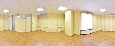 360 grados esféricos de la proyección del panorama, panorama en sitio vacío interior en apartamentos planos modernos Imagen de archivo