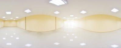 360 grados esféricos de la proyección del panorama, panorama en sitio vacío interior en apartamentos planos modernos Imágenes de archivo libres de regalías