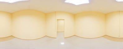 360 grados esféricos de la proyección del panorama, panorama en sitio vacío interior en apartamentos planos modernos Fotografía de archivo