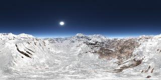 360 grados esf?ricos del panorama incons?til con un panorama de la monta?a stock de ilustración