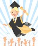 Gradué heureux Photos libres de droits