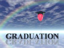 Graduação ilustração royalty free