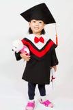 Graduação asiática da criança foto de stock royalty free
