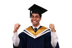 Graduação com trajeto de grampeamento Fotos de Stock