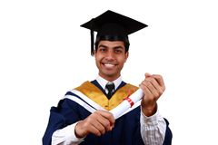 Graduação com trajeto de grampeamento Fotografia de Stock