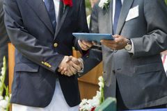 Graduação da escola secundária fotos de stock royalty free