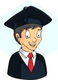 Graduação do estudante do menino Foto de Stock