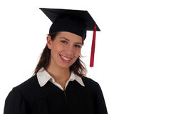 Graduação do estudante fêmea Fotos de Stock Royalty Free