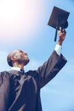 Graduação feliz fotografia de stock
