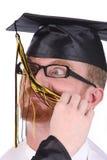 Graduação muito engraçada um homem novo Imagens de Stock Royalty Free