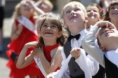 Graduação no jardim de infância fotografia de stock royalty free