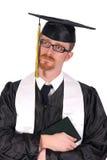 Graduação um grito do homem novo Fotos de Stock Royalty Free