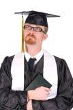 Graduação um grito do homem novo Foto de Stock