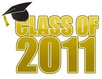 Graduación 2011 ilustración del vector