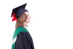 fc6bbb8ee Graduación académica de mediana edad orgullosa de la mujer fotografía de  archivo libre de regalías