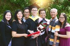 Graduación asiática Concepto de la educación imágenes de archivo libres de regalías