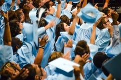 Graduación de estudios secundarios Fotografía de archivo libre de regalías