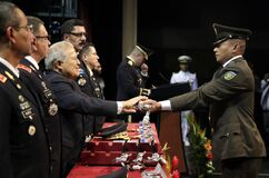 Graduación de la LXXXVIII promoción de Escuela Militar royalty free stock photos