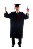 Graduación del estudiante masculino Foto de archivo