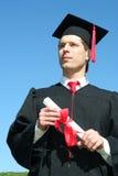 Graduación del estudiante masculino Imagen de archivo libre de regalías