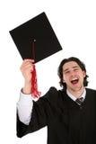 Graduación del estudiante masculino Fotos de archivo