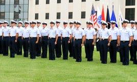 Graduación del guardacostas de los E.E.U.U. Imagen de archivo